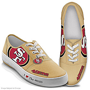 NFL-Licensed San Francisco 49ers Women's Canvas Sneakers