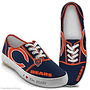 NFL-Licensed Chicago Bears Women's Canvas Sneakers