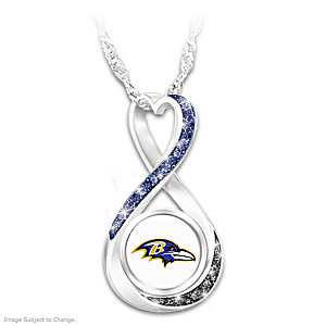 """Baltimore Ravens Forever"" Infinity Pendant Necklace"