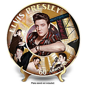 Elvis Presley 60th First Number 1 Record Collector Plate