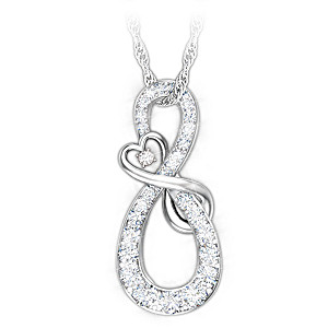 Mother & Daughter Diamond Pendant Necklace