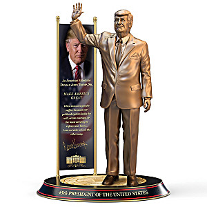 President Donald Trump Cold-Cast Bronze Sculpture
