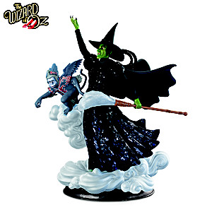 THE WIZARD OF OZ WICKED WITCH Illuminated Mosaic Sculpture