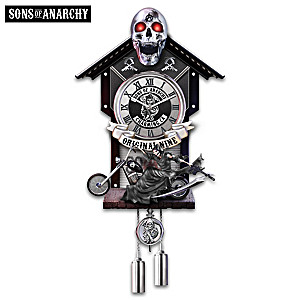 Sons Of Anarchy Wall Clock With Illuminated Skull Eyes