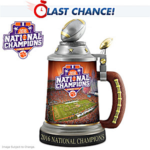 Clemson Tigers 2016 National Champions Porcelain Stein