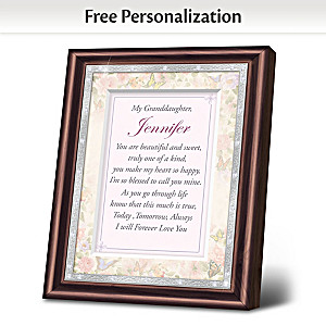 granddaughter i love you personalized frame