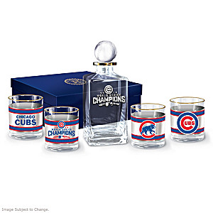 Cubs 2016 World Series Champions Five-Piece Decanter Set