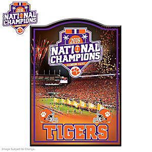 Clemson Tigers 2016 National Champions Wall Decor