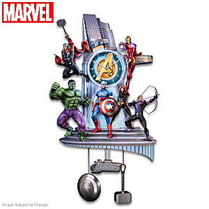 MARVEL Avengers Assemble Wall Clock With Lights And Music