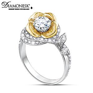"""""""Love's Eternal Bloom"""" Diamonesk Ring"""