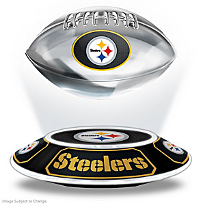 Steelers Levitating Football Lights Up And Spins