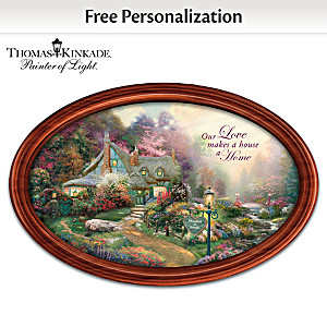 Thomas Kinkade Art Romantic Collector Plate With 2 Names