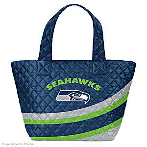 Seattle Seahawks Nylon Quilted Tote Bag