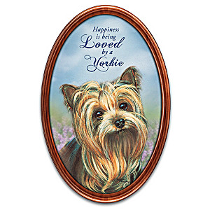 Pollyanna Pickering Yorkie Art Collector Plate