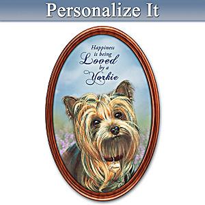 Pollyanna Pickering Yorkie Personalized Framed Plate