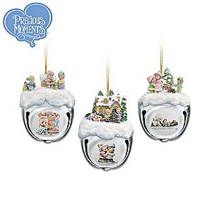 Precious Moments 2D/3D Sleigh Bells Ornaments: Set Of 3