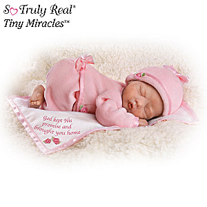 God's Tiny Miracles Lifelike Newborn Baby