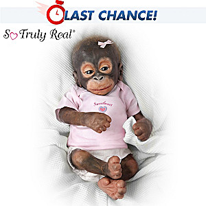 Collectible Little Umi Baby Orangutan Doll