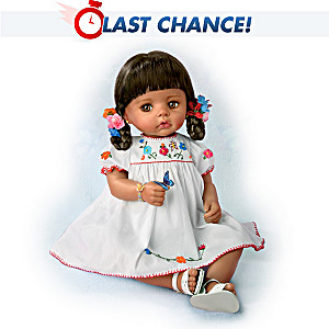 Hispanic Baby Sofia Doll With Authentic Dress