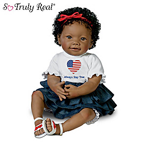 """Always Stay True"" Michelle Obama Tribute Baby Doll"