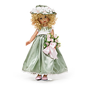 Lifelike Vinyl Child Doll In Lavish Outfit By Linda Rick