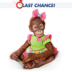 "Simon Laurens Realistic ""Mollie"" Orangutan Toddler Doll"