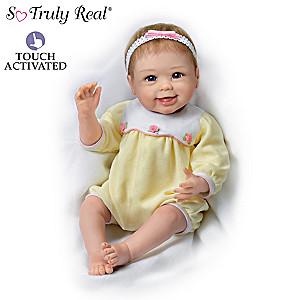 Linda Murray Lifelike Interactive Baby Doll Waves Her Hand
