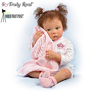 "Waltraud Hanl ""Sweet Princess"" Poseable Baby Girl Doll"