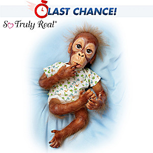 Baby Pongo, So Truly Real Poseable Orangutan Baby Doll