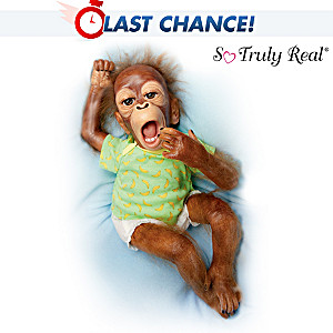 So Truly Real Poseable Orangutan Doll: Baby Zula