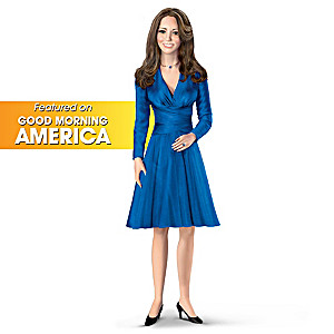 Kate Middleton Porcelain Doll With Second Portrait Dress