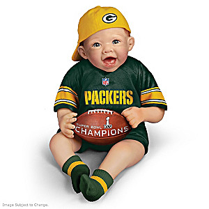 NFL-Licensed Packers Baby Doll With Super Bowl XLV Football