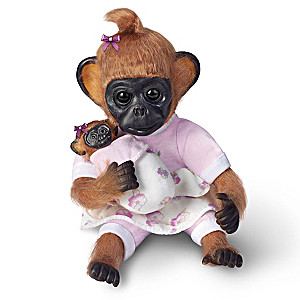 "Cindy Sales ""Gertie Plays Mommy"" Lifelike Monkey Doll"