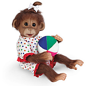 "Cindy Sales ""Ethel's Day At The Beach"" Lifelike Monkey Doll"