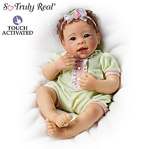 "Linda Murray ""Raspberry Kisses"" Touch-Activated Baby Doll"