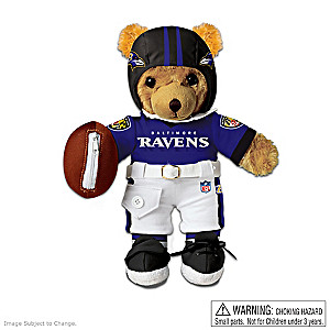 Interactive Baltimore Ravens Coaching Teddy Bear