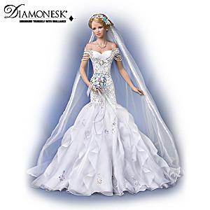 """Sparkling Promise"" Porcelain Bride Doll By Tatiana Tofaneto"
