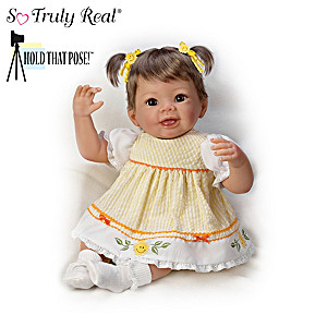 Hold That Pose! Lifelike Girl Doll By Artist Linda Murray