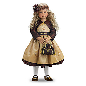 "Angela Sutter ""Amber"" Child Doll Inspired By Fall's Colors"