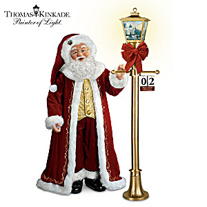 "Thomas Kinkade ""Countdown To Christmas"" Santa Doll"