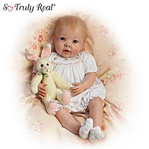 """Linda Murray """"Bunny Hugs"""" Lifelike Poseable Baby Doll"""