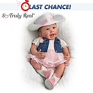 """Linda Murray """"Chesney"""" Country Style Poseable Baby Doll"""