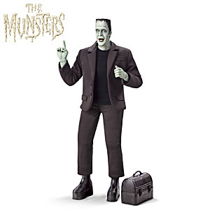 """HERMAN MUNSTER Musical Figure Plays """"The Munsters"""" Theme"""
