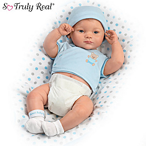 """A Little One To Love"" Anatomically Correct Baby Boy Doll"