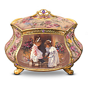 "Sandra Kuck ""My Sister, My Friend"" Porcelain Music Box"