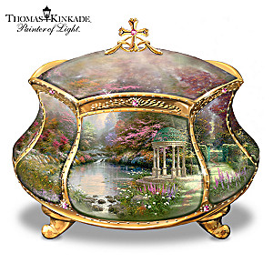"Thomas Kinkade ""Garden Of Prayer"" Musical Prayer Box"