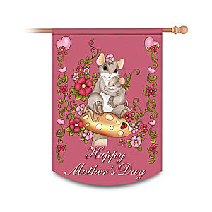 "Charming Tails ""Happy Mother's Day"" Decorative Flag"
