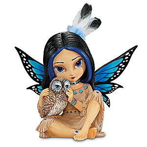 Jasmine Becket-Griffith Mystical Fairy With Real Feathers