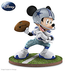 "Mickey Mouse Dallas Cowboys ""Quarterback Hero"" Figurine"
