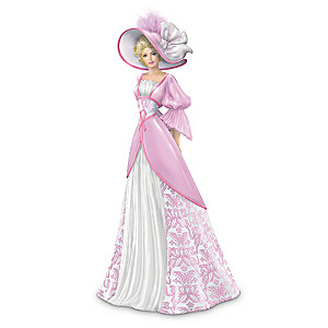 Breast Cancer Awareness Elegant Lady In Damask Gown
